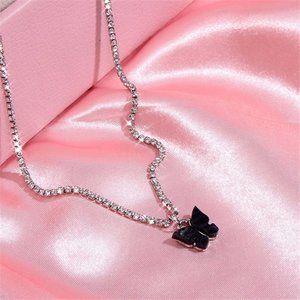 Dainty Butterfly Choker (Black)